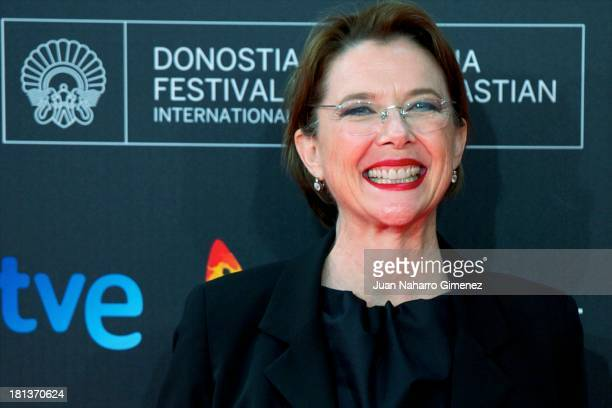 Annette Bening attends 61st San Sebastian Film Festival inauguration at Kursaal on September 20, 2013 in San Sebastian, Spain.