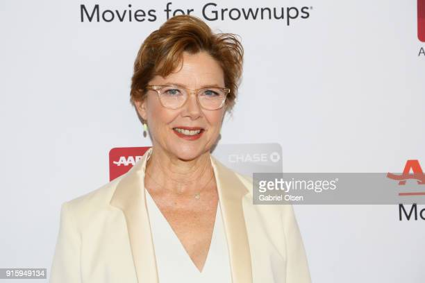 Annette Bening attends AARP's 17th Annual Movies For Grownups Awards at the Beverly Wilshire Four Seasons Hotel on February 5 2018 in Beverly Hills...