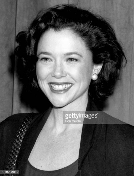 Annette Bening attends Academy Awards Nominees Luncheon on March 19 1991 at the Beverly Hilton Hotel in Beverly Hills California