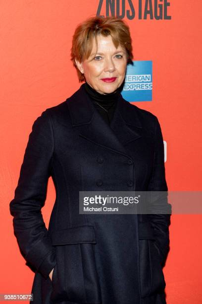 Annette Bening attends Lobby Hero Broadway opening night at Hayes Theater on March 26 2018 in New York City