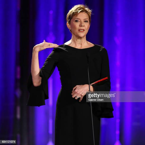 Annette Bening attends the 16th Annual AARP The Magazine's Movies For Grownups Awards at the Beverly Wilshire Four Seasons Hotel on February 6 2017...