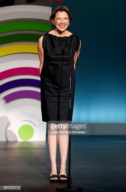Annette Bening attends the 61st San Sebastian Film Festival inauguration at Kursaal on September 20 2013 in San Sebastian Spain