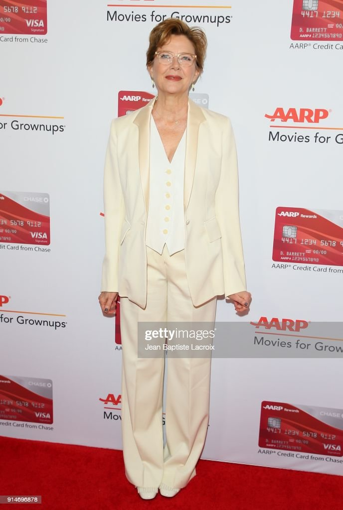 Annette Bening attends the AARP's 17th Annual Movies For Grownups Awards on February 05, 2018 in Beverly Hills, California.