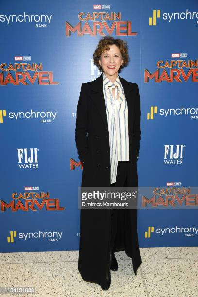 Annette Bening attends the 'Captain Marvel' NY Special Screening hosted by The Cinema Society at Henry R Luce Auditorium at Brookfield Place on March...
