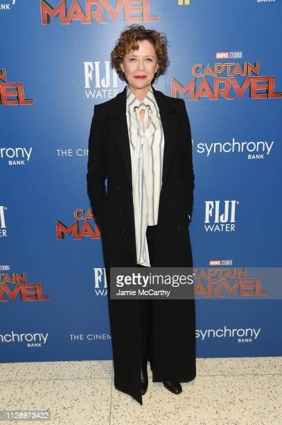 Annette Bening attends the Captain Marvel screening at Henry R Luce Auditorium at Brookfield Place on March 6 2019 in New York City