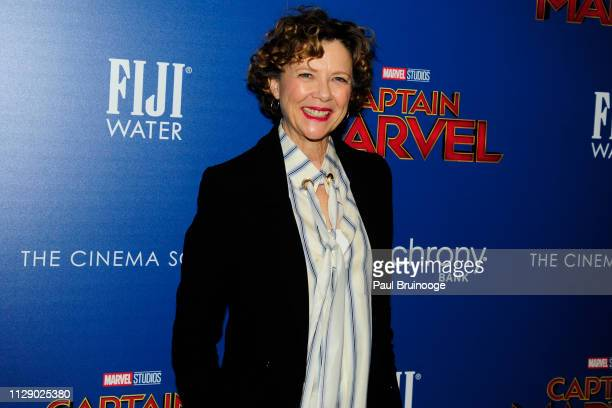 Annette Bening attends The Cinema Society With Synchrony Bank And FIJI Water Host A Special Screening Of Marvel Studios' 'Captain Marvel' at Henry R...
