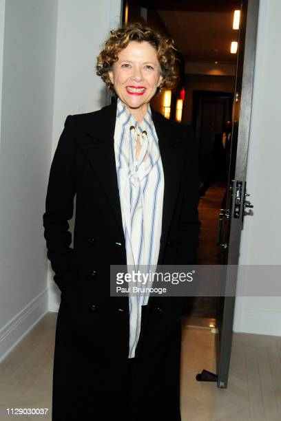 Annette Bening attends The Cinema Society With Synchrony Bank And FIJI Water Host The After Party For Marvel Studios' 'Captain Marvel' at Four...