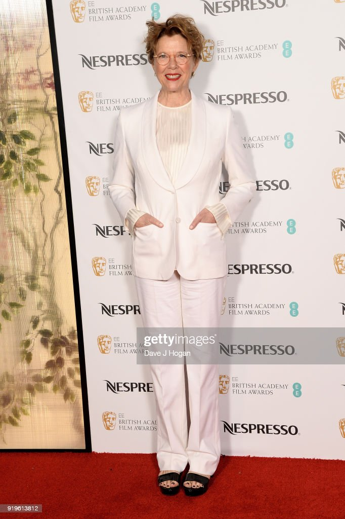 Annette Bening attends the EE British Academy Film Awards (BAFTA) nominees party at Kensington Palace on February 17, 2018 in London, England.