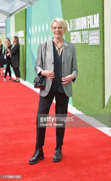 Annette Bening attends the European Premiere of The Report during the 63rd BFI London Film Festival at Embankment Gardens Cinema on October 5 2019 in...