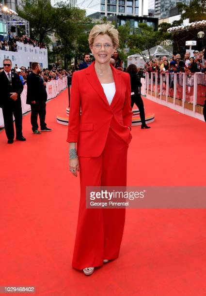Annette Bening attends the Life Itself premiere during 2018 Toronto International Film Festival at Roy Thomson Hall on September 8 2018 in Toronto...