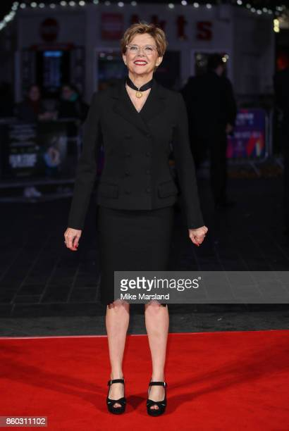 Annette Bening attends the Mayfair Gala European Premiere of 'Film Stars Don't Die in Liverpool' during the 61st BFI London Film Festival on October...