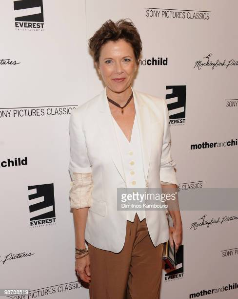 Annette Bening attends the 'Mother and Child' premiere at the Paris Theatre on April 26 2010 in New York City