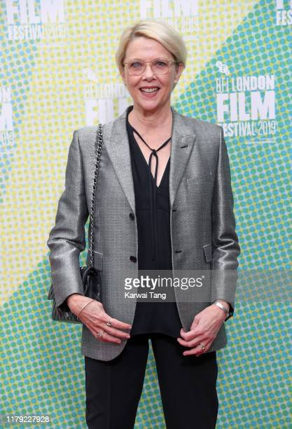 Annette Bening attends The Report European Premiere during the 63rd BFI London Film Festival at Embankment Gardens Cinema on October 05 2019 in...