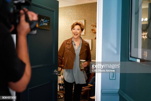 Annette Bening checks in from the green room with James Corden during 'The Late Late Show with James Corden' Tuesday January 16 2018 On The CBS...