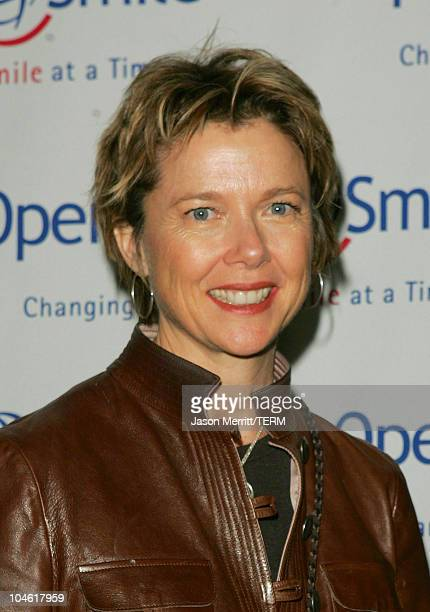 Annette Bening during Operation Smile 4th Annual Los Angeles Gala at Regent Beverly Wilshire Hotel in Los Angeles, California, United States.