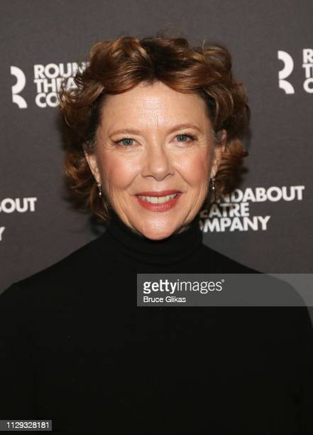 Annette Bening poses at a photo call for the Roundabout Theatre Company production of Arthur Miller's 'All My Sons' on Broadway at The American...