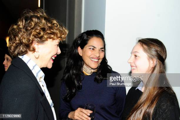 Annette Bening Sarita Choudhury and Guest attend The Cinema Society With Synchrony Bank And FIJI Water Host The After Party For Marvel Studios'...