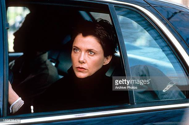 Annette Bening sitting in a car in a scene from the film 'The Siege' 1998