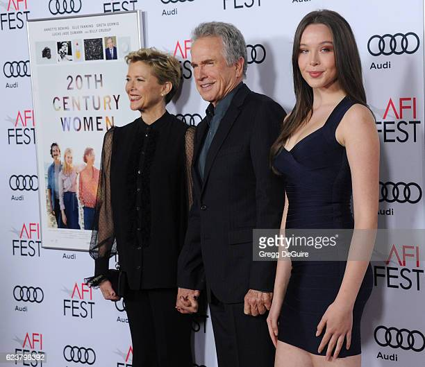 Annette Bening Warren Beatty and Ella Beatty arrive at the AFI FEST 2016 Presented By Audi A Tribute To Annette Bening And Gala Screening Of A24's...