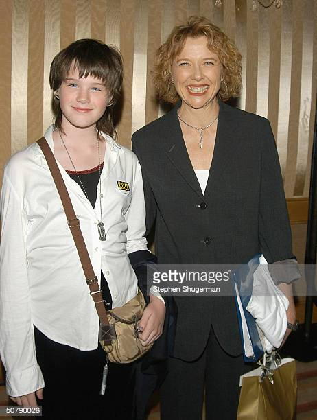 Annette Bening's daughter Kathlyn Beatty and Actress Annette Bening attend Senator Barbara Boxer's Women Making History Honors Annette Bening at the...