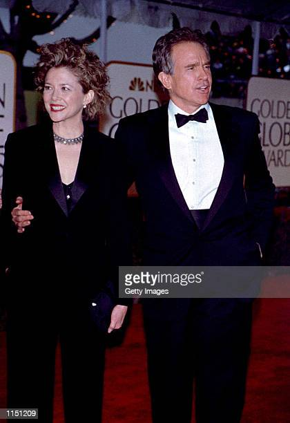 Annette Benning and Warren Beatty arrive for the 56th annual Golden Globe Awards January 24 1999 in Beverly Hills CA