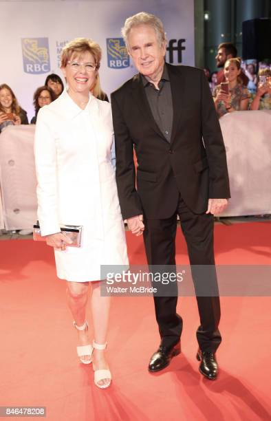 Annette Benning and Warren Beatty attend the 'Film Stars Don't Die in Liverpool' premiere during the 2017 Toronto International Film Festival at Roy...
