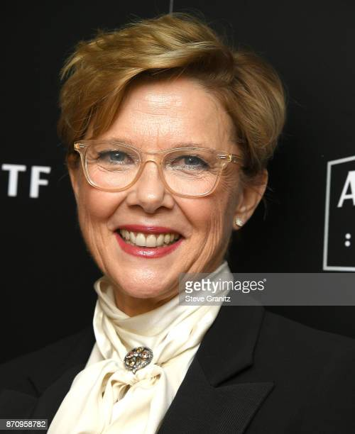 Annette Benning arrives at the 21st Annual Hollywood Film Awards at The Beverly Hilton Hotel on November 5 2017 in Beverly Hills California