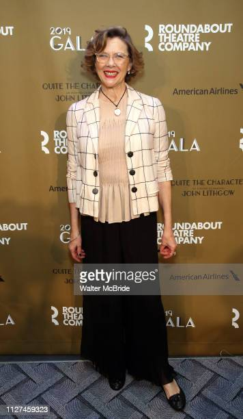Annette Benning attends the Roundabout Theatre Company's 2019 Gala honoring John Lithgow at the Ziegfeld Ballroom on February 25 2019 in New York City