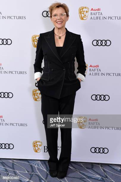 Annette Benning during her career retrospective evening held at The Savoy Hotel on October 12 2017 in London England