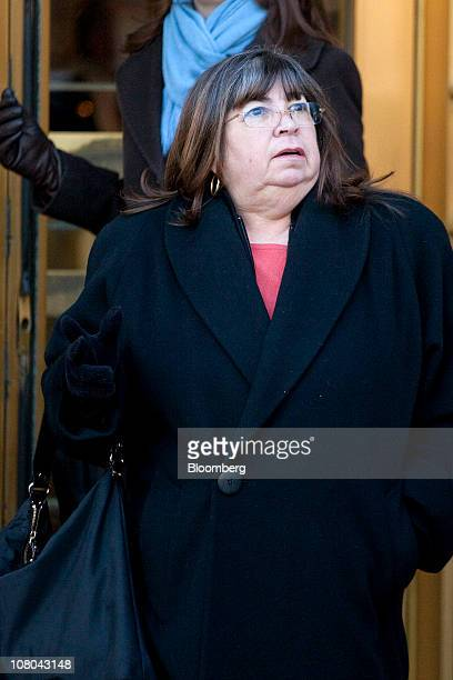 Annette Bongiorno a former secretary at Bernard L Madoff Investment Securities LLC exits federal court in New York US on Friday Jan 14 2011 Bongiorno...