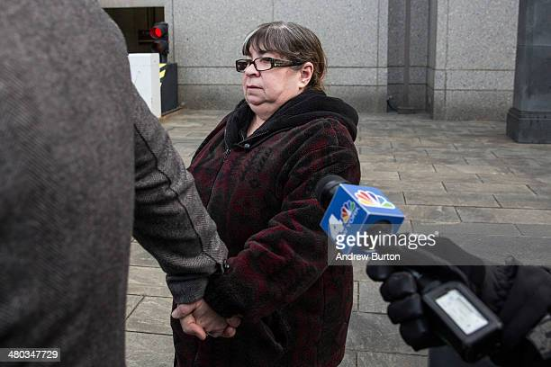 Annette Bongiorno age 65 who served as an executive assistant for Madoff Investment Securities leaves federal court after being found guilty of...