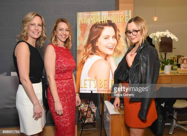 Annette Bourland Sara Merritt and Natasha Bure attend Natasha Bure 'Let's Be Real' Los Angeles book launch party at Eden By Eden Sassoon on March 24...