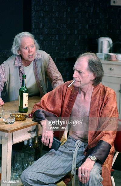 Annette Crosbie and David Bradley in a production of The Night Season by Rebecca Lenkiewicz at the Royal National Theatre in London