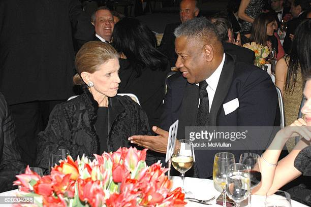 Annette de la Renta and Andre Leon Talley attend 60th Annual PARSONS Benefit Fashion Show Honoring Diane von Furstenberg and Howard Socol at Grand...