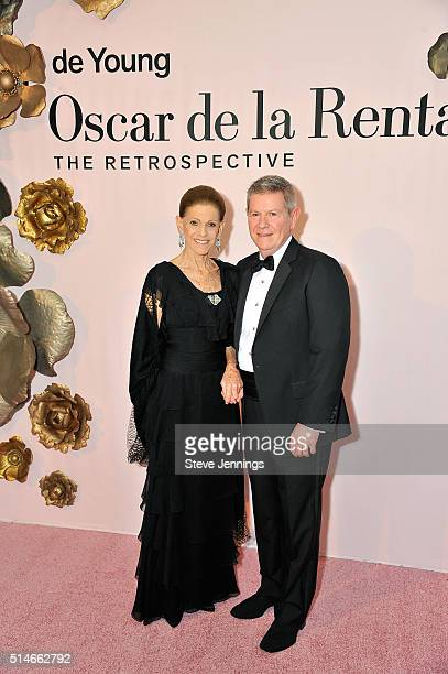 Annette de la Renta and Deputy Director of Museums and Chief Operating Officer Richard Benefield attend the 'Oscar de la Renta The Retrospective'...