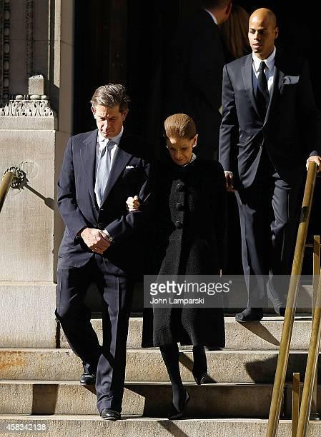 Annette de la Renta attends Oscar De La Renta's Funeral at St Ignatius Of Loyola on November 3 2014 in New York City