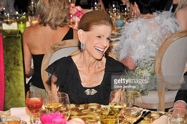 Annette de la Renta attends the 'Oscar de la Renta The Retrospective' Benefit Gala at the de Young on March 9 2016 in San Francisco California