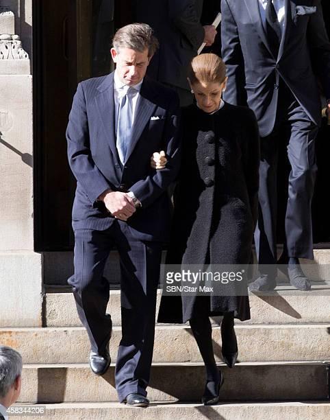 Annette De La Renta is seen at the funeral of fashion designer Oscar De La Renta at St Ignatius Of Loyola on November 3 2014 in New York City
