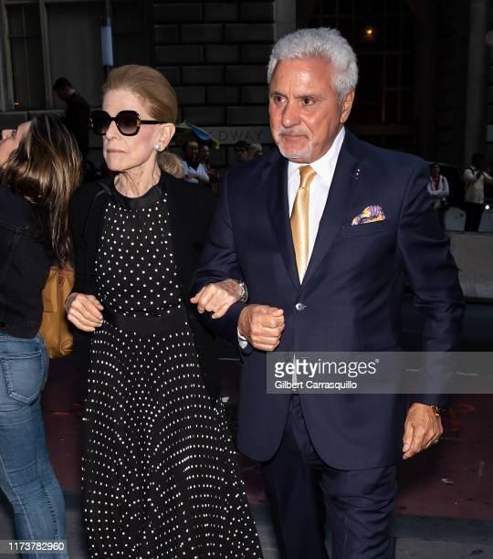 Annette de la Renta is seen leaving Oscar de la Renta fashion show during New York Fashion Week on September 10 2019 in New York City