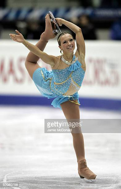 Annette Dytrt of Germany in action during the Ladies Free Dance during the ISU European Figure Skating Championships at the Palavela on January 29...