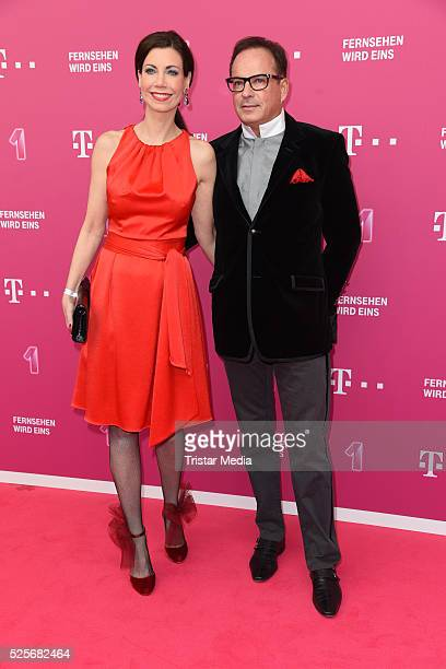 Annette Eimermacher attend the Telekom Entertain TV Night at Hotel Zoo on April 28 2016 in Berlin Germany