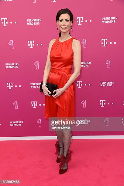 Annette Eimermacher attends the Telekom Entertain TV Night at Hotel Zoo on April 28 2016 in Berlin Germany
