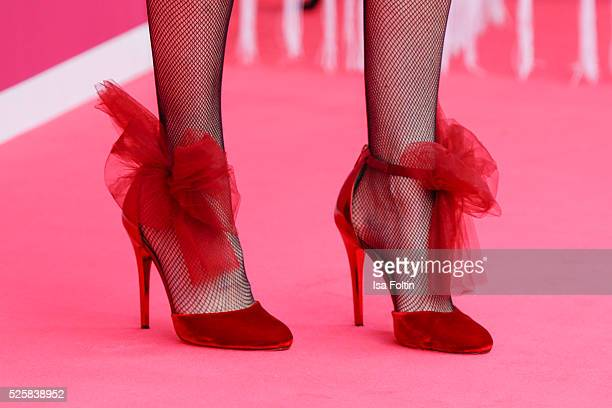 Annette Eimermacher shoe detail during the Telekom Entertain TV Night at Hotel Zoo on April 28 2016 in Berlin Germany