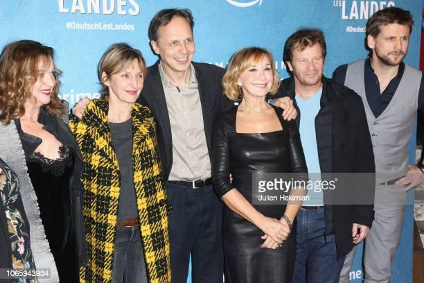 Annette Ernst Sophie Mounicot Director Denis Dercourt Marie Anne Chazel Philippe Lelievre and Gauthier Battoue attend 'DeutschLes Landes' Paris...