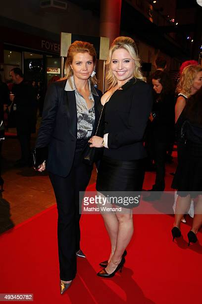 Annette Frier and Caroline Frier attend the 19th Annual German Comedy Awards at Coloneum on October 20 2015 in Cologne Germany