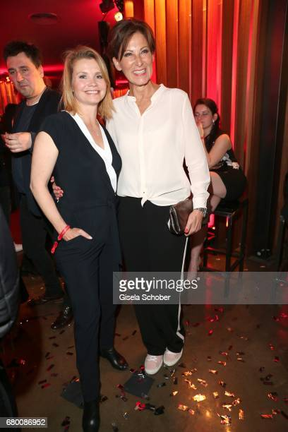 Annette Frier and fashion designer of Minx Eva Lutz during the New Faces Award Film at Haus Ungarn on April 27 2017 in Berlin Germany