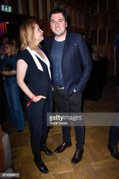 Annette Frier and guest attend the New Faces Award Film at Haus Ungarn on April 27 2017 in Berlin Germany