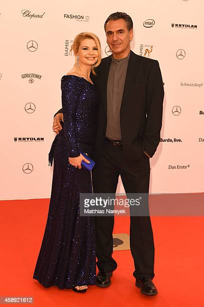 Annette Frier and her husband Johannes Wuensche arrive at the Bambi Awards 2014 on November 13 2014 in Berlin Germany