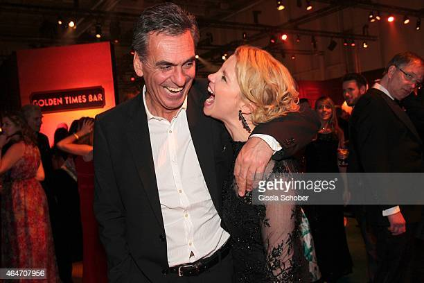 Annette Frier and her husband Johannes Wuensche during the Goldene Kamera 2015 after show party on February 27 2015 in Hamburg Germany