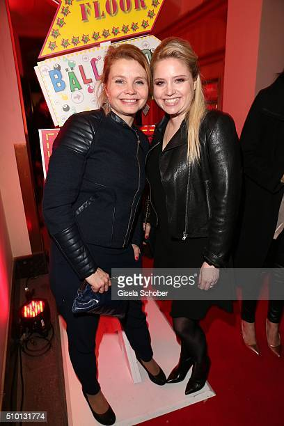 Annette Frier and her sister Carolin Frier during the Bild 'Place to B' Party at Borchardt during the 66th Berlinale International Film Festival...